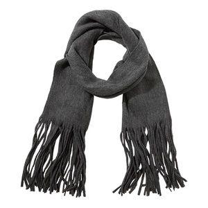 Lucky Brand acrylic-blend scarf, grey.